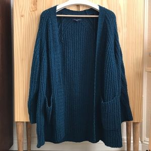 Deep Bluegreen Knitted cardigan